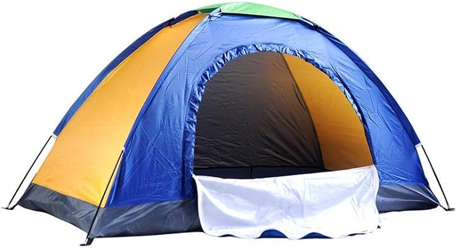 Maybesky Tente de Festival Camping Simple Tente Multi-Joueurs de Camping Simple Tente publicitaire Bleu Jaune Tente de Camping familiale étanche à 100%