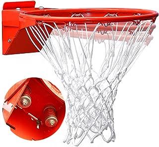 ProSlam Professional 180º Heavy Duty Breakaway Basketball Rim,18 inch Double Spring Flex Rim Goal Replacement fit Indoor and Outdoor Backboard (Orange, 18 inch)