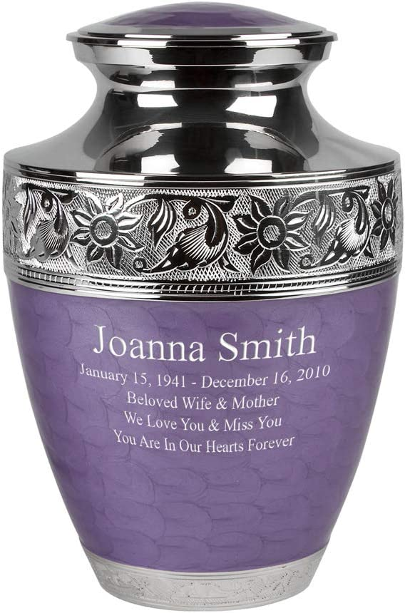 Perfect Deluxe Memorials Custom Engraved Large price Bloom Cremation Lavender