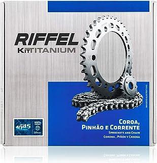 Kit Cb Twister 250 (16 , 18) 40Z X 13Z Com Corrente 520H X 110L , Titanium (1045) , Riffel