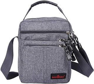 کیسه های شانه مسافر مردانه - کیف شانه مسافرتی کیف دستی کیف دستی مردانه کیف دستی کوچک کیف دستی برای کار تجاری (1893-خاکستری)