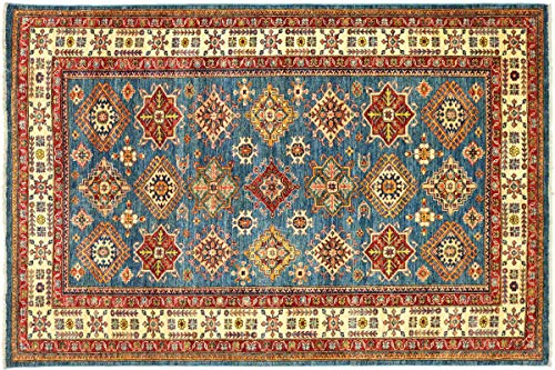 Teppichprinz Alfombra oriental afgana Kazak fina, 209 x 173 cm, hecha a...