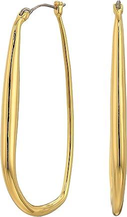 Organic Metal Hoop Earrings