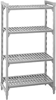 "Cambro Shelving Starter Unit, 36"" x 18"" x 64"", 4 shelves Speckled Gray CPU183664V4-480"