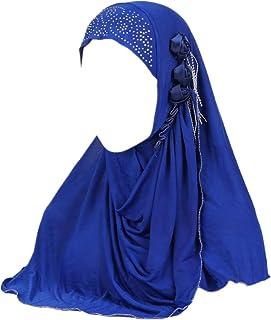 HZUX Elegant Muslim Women Hijab Instant Convenient Shawl Head Wear Scarf Turban Headband
