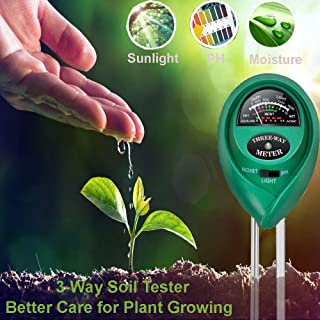 Lailieu Soil Test Kit 3-in-1 Soil Tester with Moisture,Light and PH Meter, Indoor/Outdoor Plants Care Soil Sensor for Home and Garden, Farm, Herbs & Gardening Tools(No Battery Needed)