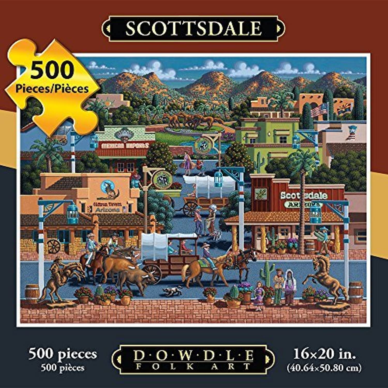 tienda de venta en línea Jigsaw Jigsaw Jigsaw Puzzle - Scottsdale 500 Pc By Dowdle Folk Art by Dowdle Folk Art  comprar ahora