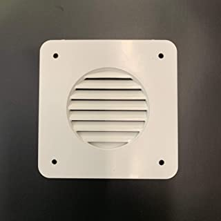 A.A Battery Box Vent System Louver Cover - White - RV's, Campers, Trailers, Motorhome Repair (Louver Vent, White)