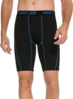 Wayleb Pantalones Cortos Deportivos Pantalón Corto Chandal Hombre Verano Compresion Shorts Mallas Running Hombre de Deport...