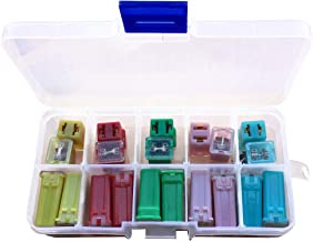 20 Pcs Jcase Box Shaped Fuse Kit,Uspacific Mini Blade Fuses 20A.30A,40A,50A,60A Set for SUV, Ford GM/Chevy Nissan, Toyota Pickup Trucks Cars