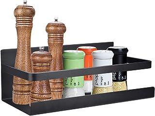 OIZEN Kylskåpshylla hängande hylla för kylskåp magnet kryddhylla med hylla kökshylla köksorganisering förvaring, svart
