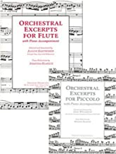 Orchestral Excerpts for Flute / Orchestral Excerpts for Piccolo. With Piano Accompaniment. 2 Books.