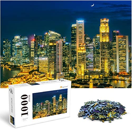 1000 Piece Puzzles for Adults Large Format Singapore Jigsaw Puzzles Puzzle Pieces Fit Together product image