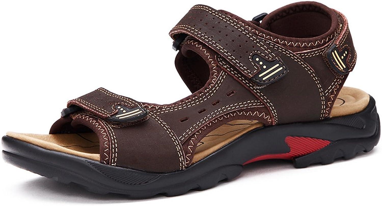 Mobnau Women's Leather Casual Sandles Hiking Beach Sandals