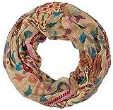 styleBREAKER bufanda tubo bucle animal print con modelo de paisley 01014010, color:beige