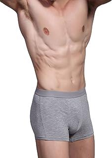 Hoerev Men Bamboo Fibre Boxer Shorts Trunks Underwear Pack of 4