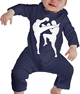 Dee O.STORE Toddler Baby Girls Boys Bodysuits Coverall Jumpsuit Muay Thai Long Sleeve Bodysuit Sleepwear