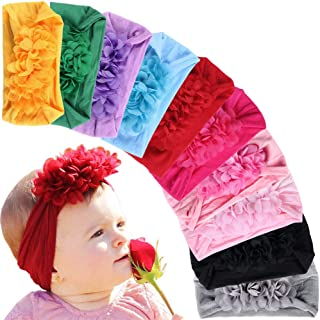 Gacimy Baby Girl Headband 13 inches Knotted Elastic Hair Turban Bow Accessories