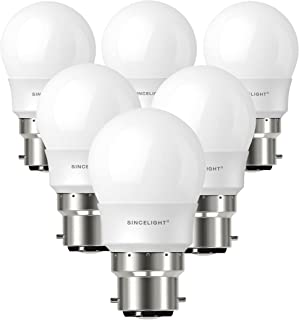 B22 LED P45 Golf Ball Light Bulb, Frosted, 5 Watt, Netrual White 4000K, 520 Lumens, 50W Equivalent, Non-Dimmable, BC Bayon...