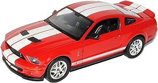 Welly Ford Shelby Mustang V Cobra GT500 Rot mit Weiss 2005 2009 1/24 Modell Auto mit individiuellem Wunschkennzeichen
