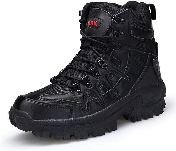 Xxochaussures Bottes tactiques pour hommes Chaussures de randonnée et de randonnée mi-hautes Bottes d'hiver Travail de patrouille militaire Bottes de randonnée Chaussures stellaires tactiques Bottes de comb