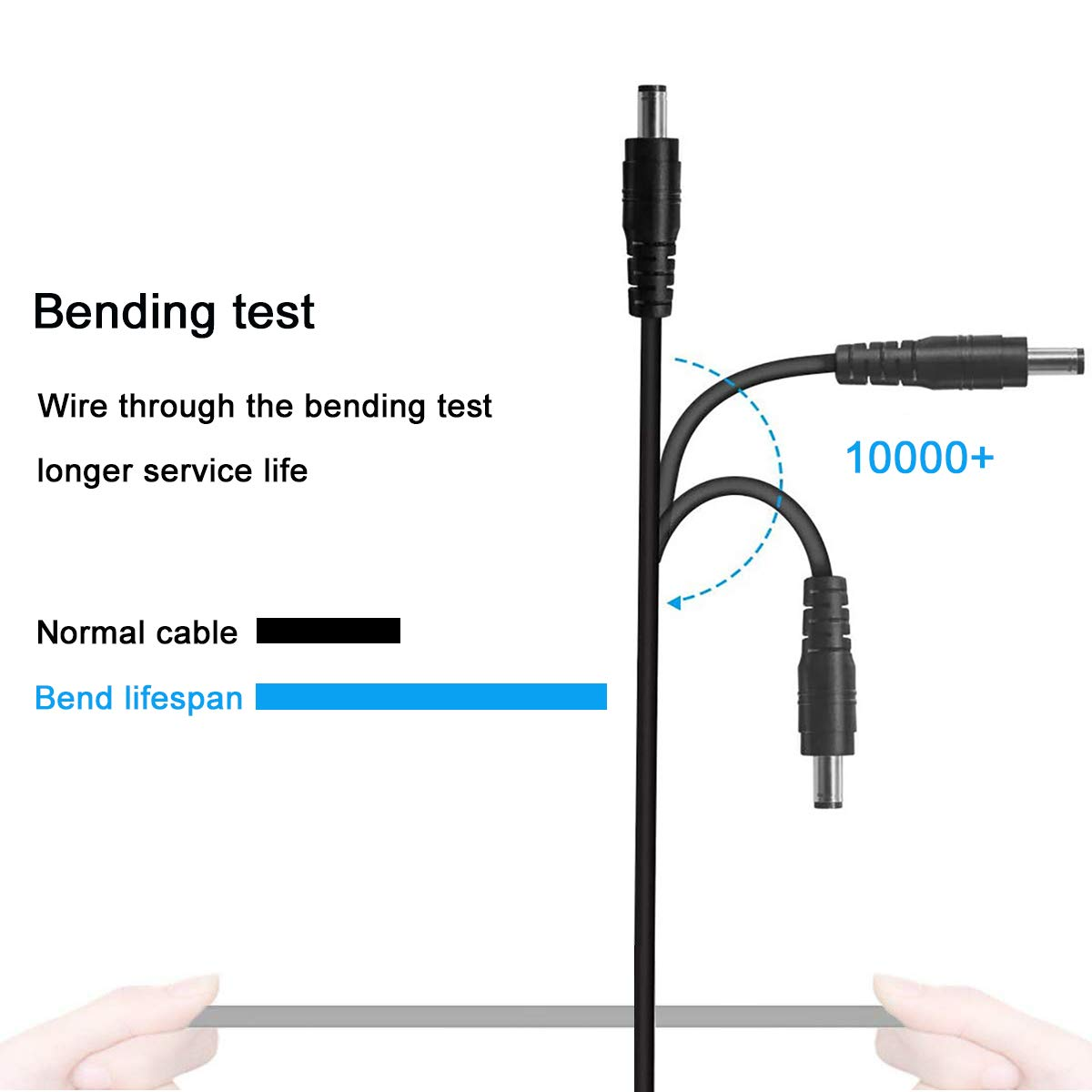 UXWEN USB to DC 5V Power Cord, Universal DC 5.5x2.1mm Plug Charging Cable with 10 Connector Tips(5.5x2.5, 4.8x1.7, 4.0x1.7, 4.0x1.35, 3.5x1.35, 3.0x1.1, 2.5x0.7, Micro USB, Type-C, Mini USB)