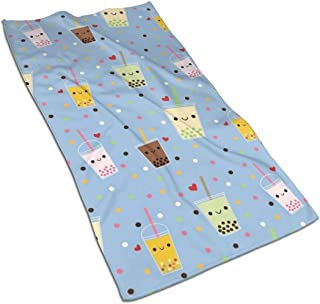 Happy Boba Bubble Tea Kitchen Towels ¨C 17.5X27.5in Microfiber Terry Dish Towels for Drying Dishes and Blotting Spills ¨CDish Towels for Your Kitchen Decor