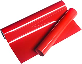 """VINYL FROG HTV 10"""" x5 FT PU Red Heat Transfer Vinyl Roll for T Shirts,Garments Bags and Other Fabrics"""