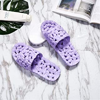 Soft Fashion Men And Women Couple Flat Shoes Home Slippers Summer Hollow Non-Slip Bathroom Slippers
