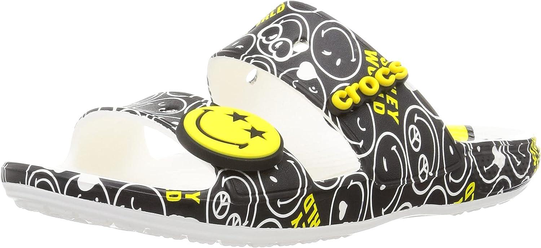 Crocs Unisex-Adult Men's and Women's Classic Two-Strap Slide Sandals