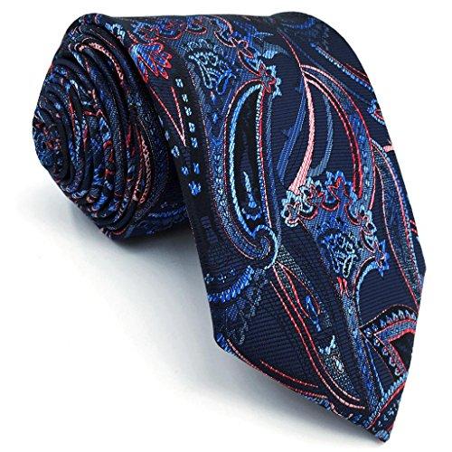 Shlax&Wing Neu Mode Herren Seide Krawatte Blau Mehrfarbig Geometrisch Blumen