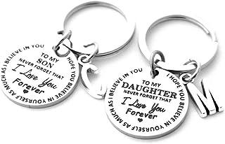 A mia figlia figlio portachiavi da papà mamma Inspirational regalo non dimenticare mai che ti amo per sempre regalo di com...