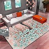 Tapis Cuisine Tapis Chambre Enfant Fille Rose Blue Flower Motif Design Girl Chambre Fille Environnement Durable Machine lavableDescente De Lit 140X200cm