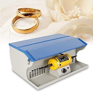 KANING Polishing Buffing Machine,0-8000 RPM Bench Polishing Buffing Machine Dust Collector Jewelry Polisher Power Tool 110V