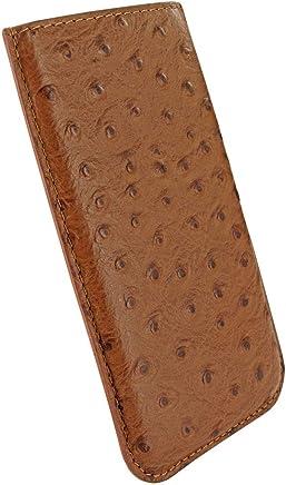 2fb7ff91654 Piel Frama Modelo Pull Style - Funda de Vacuno con Grabado de Avestruz para  iPhone X