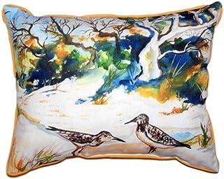 "Betsy Drake SN487 Tree & Beach Pillow, 11"" x14"""