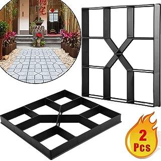 Adel store 2pcs Garden Lawn Path Paver Patio Driveway Concrete Stepping Stone Walk Maker Pavement Mold Brick Cement