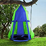 Hanging Tree Swing Tent Waterproof Backyard Hammock Chair Max Capacity 600lbs Detachable Play Tent Swing Play House Castle Nest Pod Indoor Outdoor Bedroom Ceiling Hanging Tent Camping Tree House