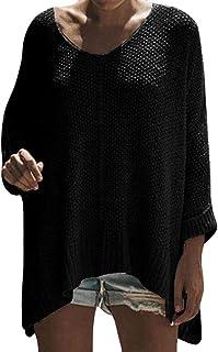 OTW Women's Sweater Fashion Knit Long Sleeve Side Slit Pullover Sweater Top