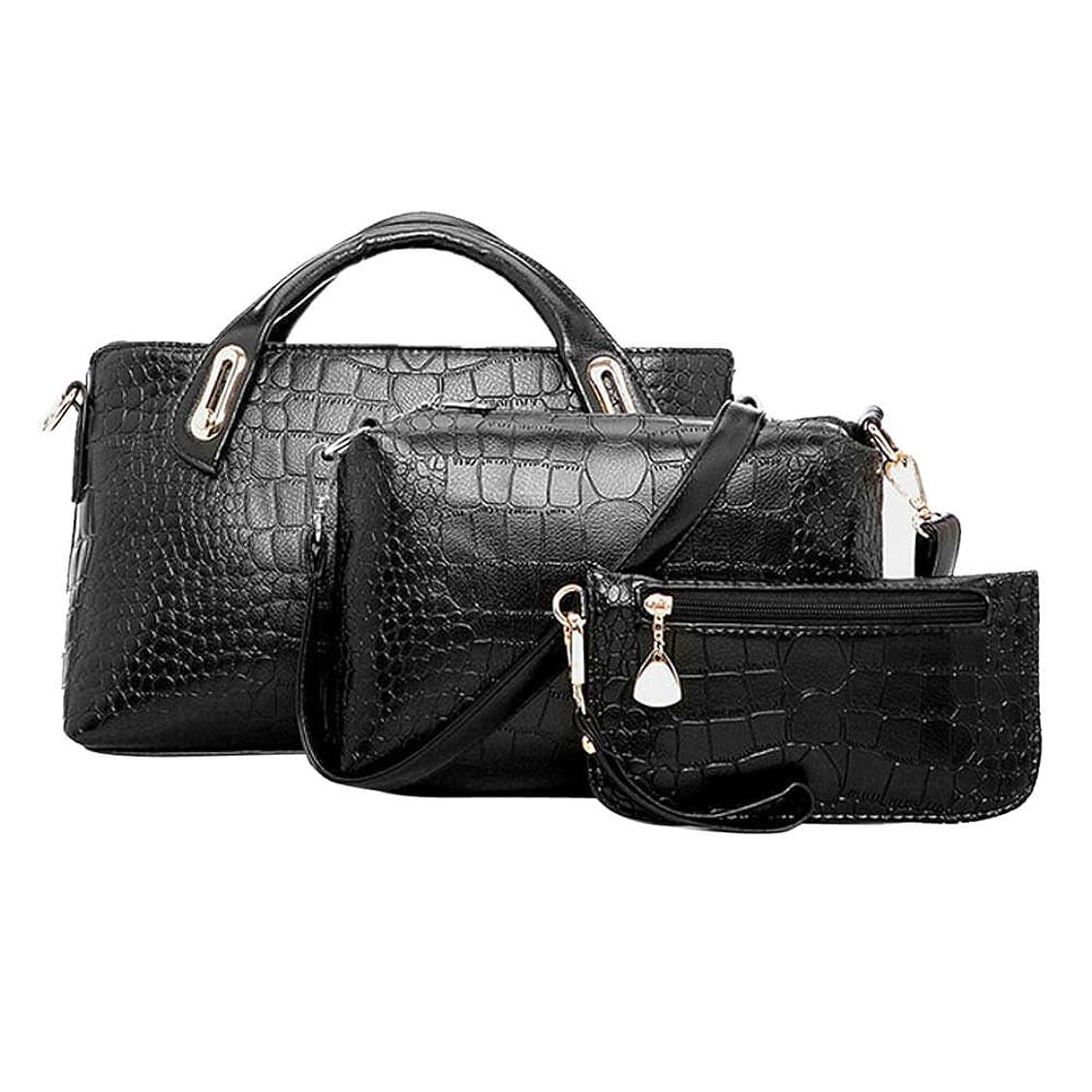 ミュウミュウちらつき感謝するトートバック/ショルダーバック/ハンドバック/3PCS Women Ladies Handbag Pu Leather Shoulder Crossbody Bag Tote Messenger Purse