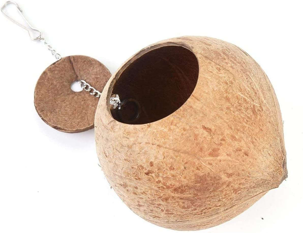 Caczmarek Same day shipping Natural Coconut Shell Bird Nest House For Parr Bed Pet Finally popular brand