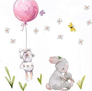 Wandtattoo Luftballons mit Vogel Wandaufkleber Wanddekoration Wandsticker