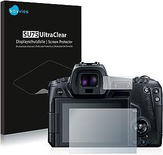 savvies Protector Pantalla Compatible con Canon EOS R (18 Unidades) Pelicula Ultra Transparente