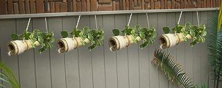 COIR GARDEN Bamboo Hanging Planter, 40-55 cm, 4 Pieces