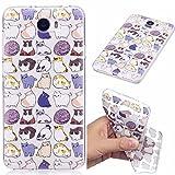 YYhin teléfono Cubierta para Funda Huawei Y5II/Y5 2(Two) 2016(5.0')-Transparente con patrón Ultra Delgado a Prueba de Golpes Suave Gel TPU de Silicona Phone Case(CH07/Mini Gato)