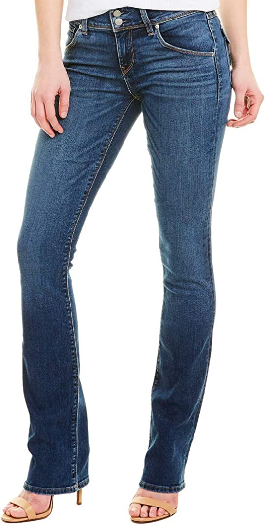 HUDSON Women's Beth Mid Rise, Baby Bootcut Jean with Back Flap Pockets