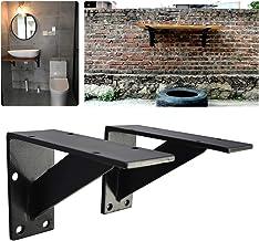 Plankdrager Zwaarbelastbaar Planken丨Heavy Duty Industriële Rustieke Drijvende Plank Beugels丨met Schroeven En Anker丨zwart 7...