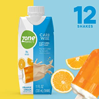 ZonePerfect Carb Wise High-Protein Shakes, Orange Cream, 11 fl oz, 12 Count