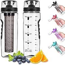 Opard Drinkfles, 900 ml, waterfles met fruitinzet, lekvrij, sportfles, BPA-vrij, van Tritan, fles voor kinderen, sport, fi...
