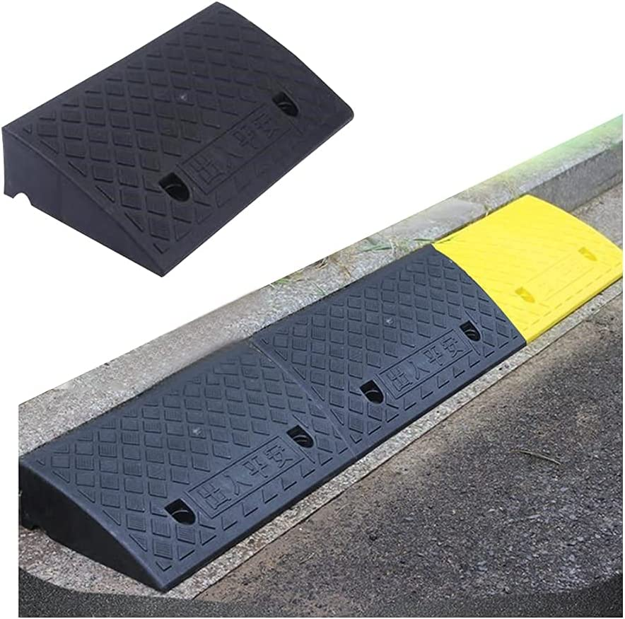 YNWUJIN Portable Non Sale special price Slip Curb High 50X27X11Cm Ramps Load Black Complete Free Shipping